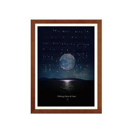 Debussy Claire de Lune Score Poster