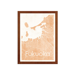poster FUKUOKA WATERCOLOR MAP