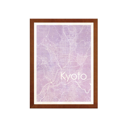 poster KYOTO WATERCOLOR MAP