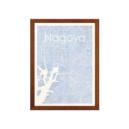 poster NAGOYA WATERCOLOR MAP