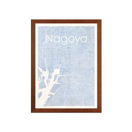 poster NAGOYA WATERCOLOR MAP
