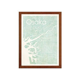 poster OSAKA WATERCOLOR MAP