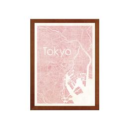 poster TOKYO WATERCOLOR MAP