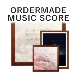 オーダーメイド楽譜アート